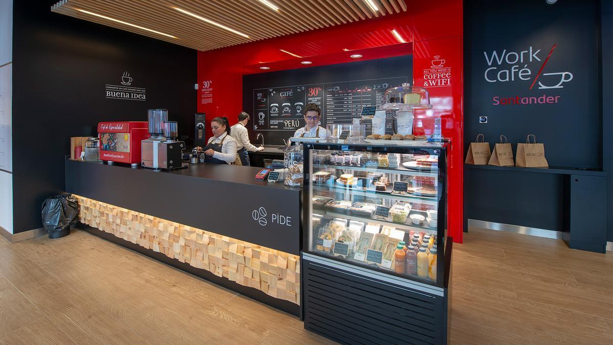 Las oficinas 'Work Café' de Banco Santander en las universidades están especialmente diseñadas para la comunidad académica.