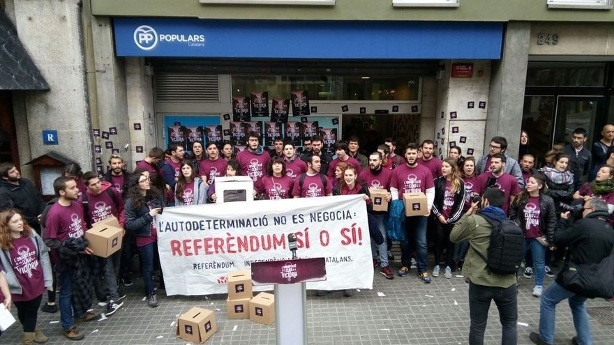 El PP catalán denunciará a Gabriel, Fernàndez (CUP) y Arran por irrumpir en su sede