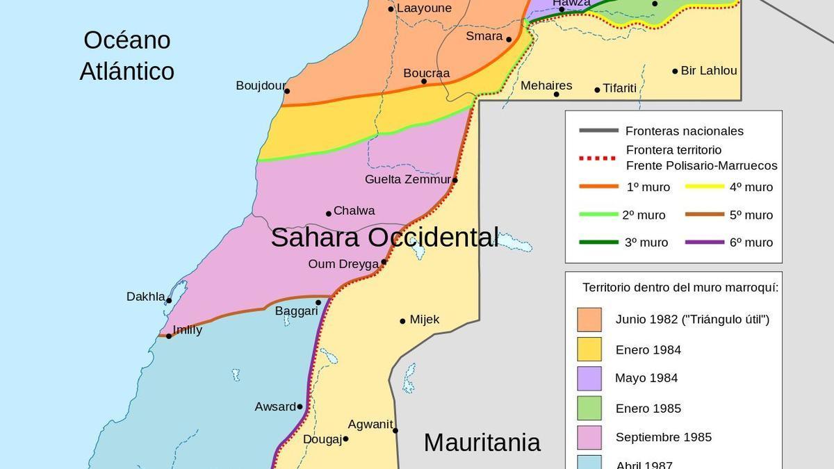 Mapa del Sahara Occidental