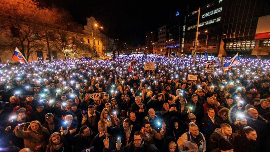 Protestas por el asesinato del periodista Jan Kuciak