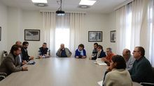 Reunión de este lunes en el palacio insular, con integrantes de la asociación de defensa de los barrancos