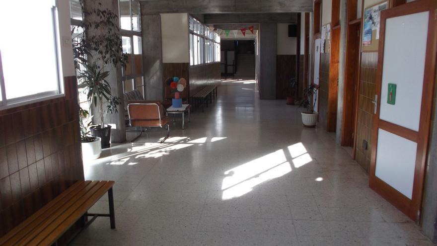 En la image, interior del Colegio El Dorador de Mirca.