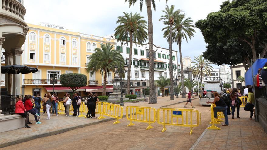 La capital grancanaria se convierte en Casablanca para el rodaje de 'Allied' (Alejandro Ramos)