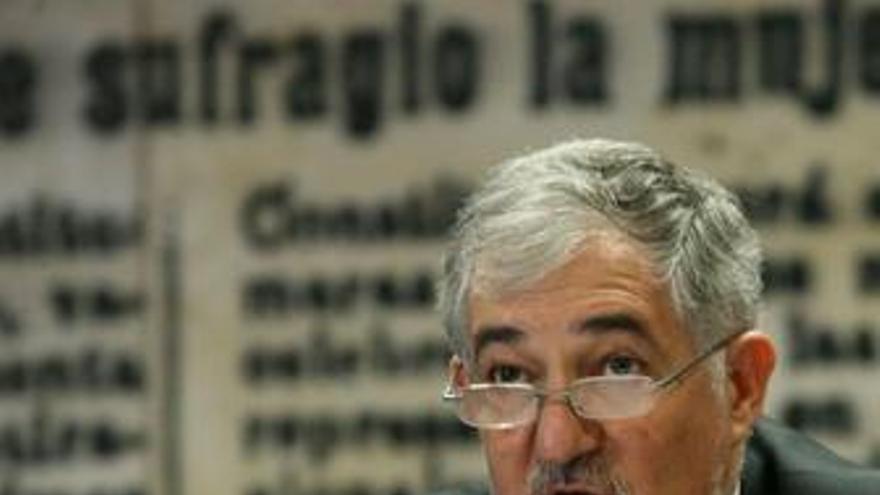 El fiscal general del Estado, Cándido Conde Pumpido en el Senado