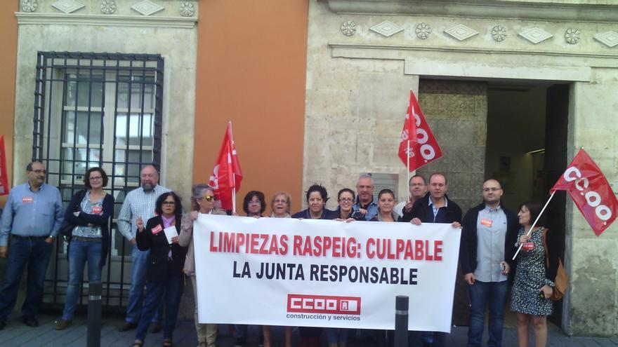 Huelga en Limpiezas Raspeig, Albacete.