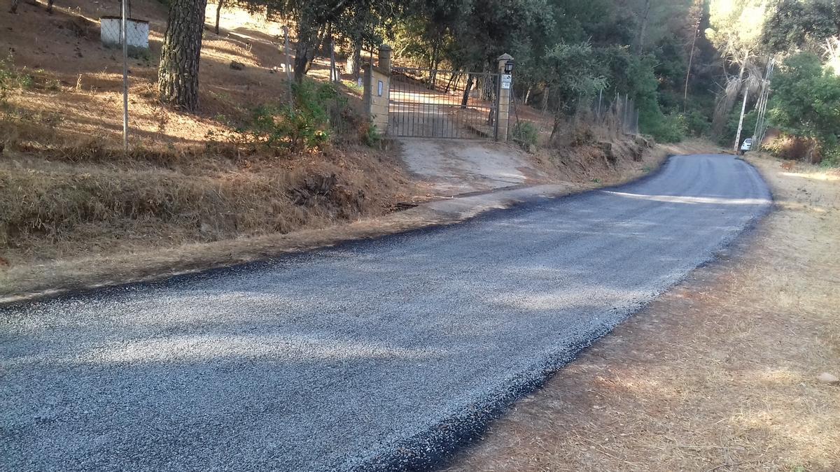 Asfaltado del camino histórico del Bejarano