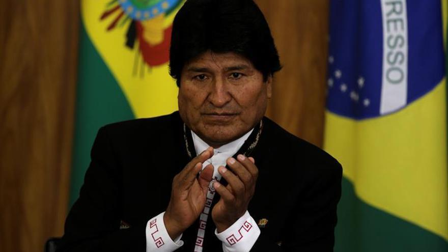 """Evo Morales dice que """"el pueblo triunfará frente a las oligarquías"""" en Brasil"""