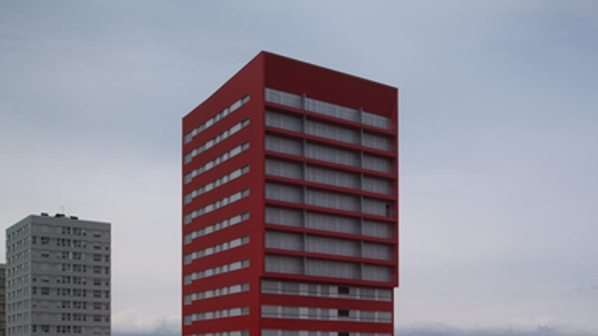 Edificio de viviendas protegidas en el barrio de Salburua, de Vitoria