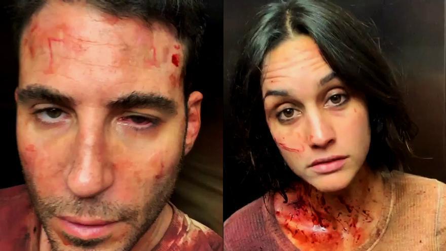 Miguel Ángel Silvestre y Megan Montaner en el rodaje de '30 monedas'