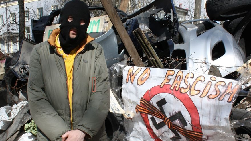 "Sascha, ""activista prorruso"", manifestante. Donetsk / Foto: C. Negrete"
