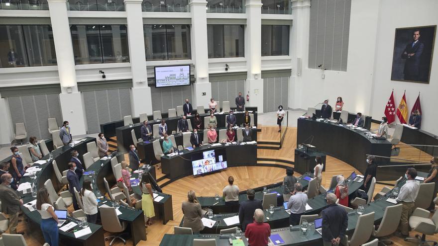 Vista general de una sesión plenaria en el Ayuntamiento de Madrid