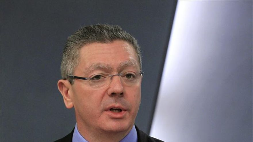 El ministro de Justicia, Alberto Ruiz Gallardón / EFE
