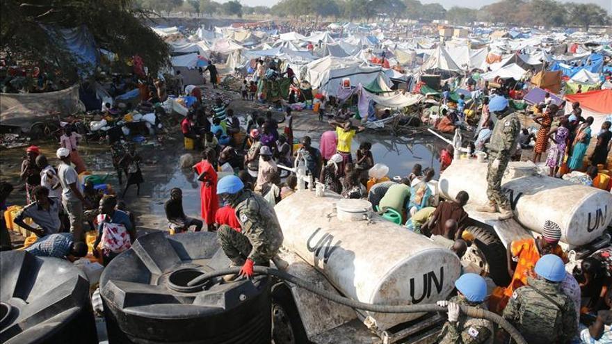 Imagen de archivo. Campo de refugiados en Sudán del Sur.| Efe