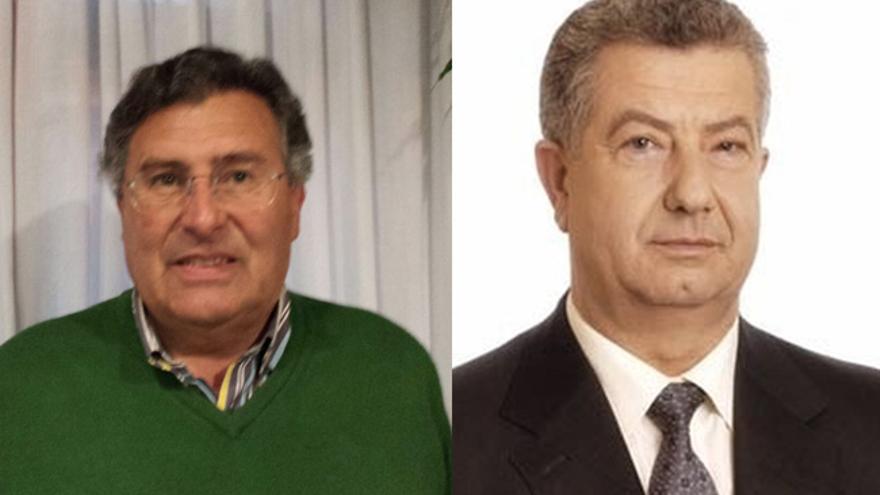 Francisco Asón (PRC), alcalde de Ribamontán al Mar, y Evaristo Domínguez (PP), alcalde de Meruelo.