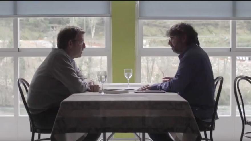 Núñez Feijóo y Jordi Évole en la entrevista de Salvados