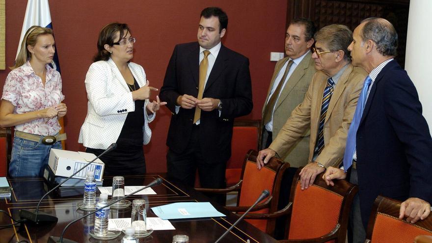 Comisión de investigación del caso Eolo, en el Parlamento de canarias.
