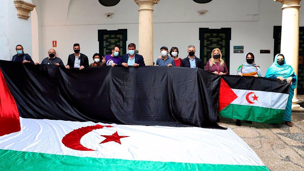 Presentación de la 'Marcha por la libertad del pueblo saharaui'.