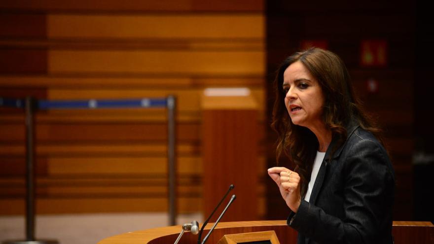 La portavoz de Ciudadanos en las Cortes de Castilla y León, Carlota Amigo.