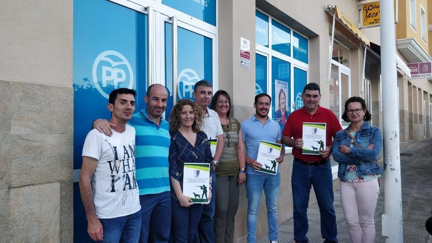 Candidatos del PP se han reunido con la Federación Insular de Caza de La Palma.
