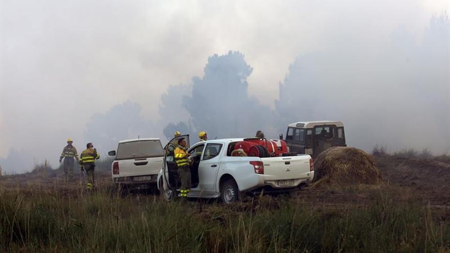 Desalojado el municipio de Cobos de Fuentidueña (Segovia) por un incendio