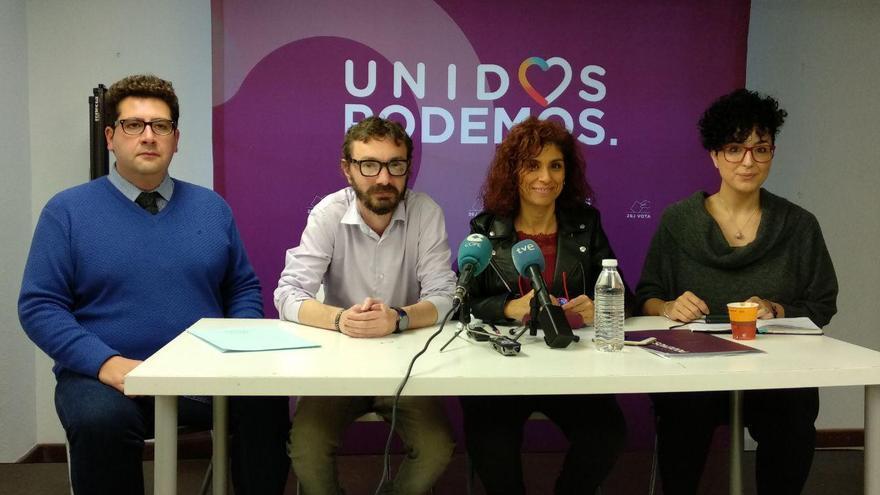 Ivan Gutiérrez, David González, Rosana Alonso y Belén Milán en rueda de prensa. | R.A.