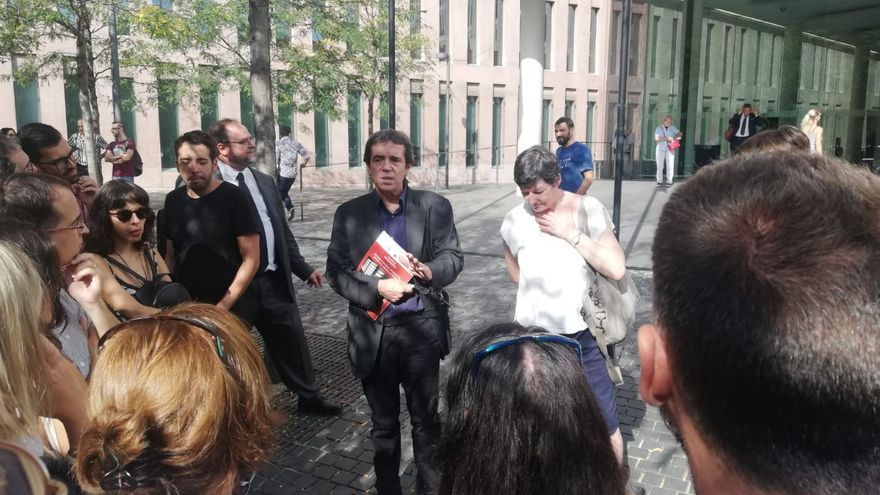 Rivera, a la salida del juzgado