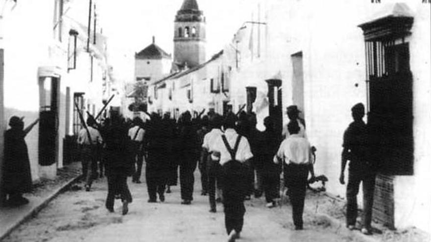 Toma de El Coronil (Sevilla) por tropas golpistas.