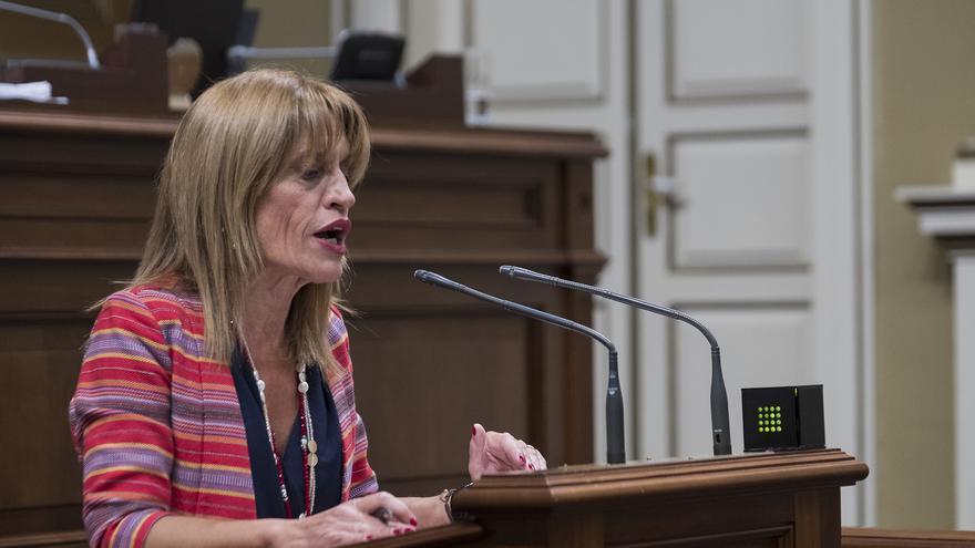 La presidenta del grupo parlamentario de Nueva Canarias (NC), Esther González.