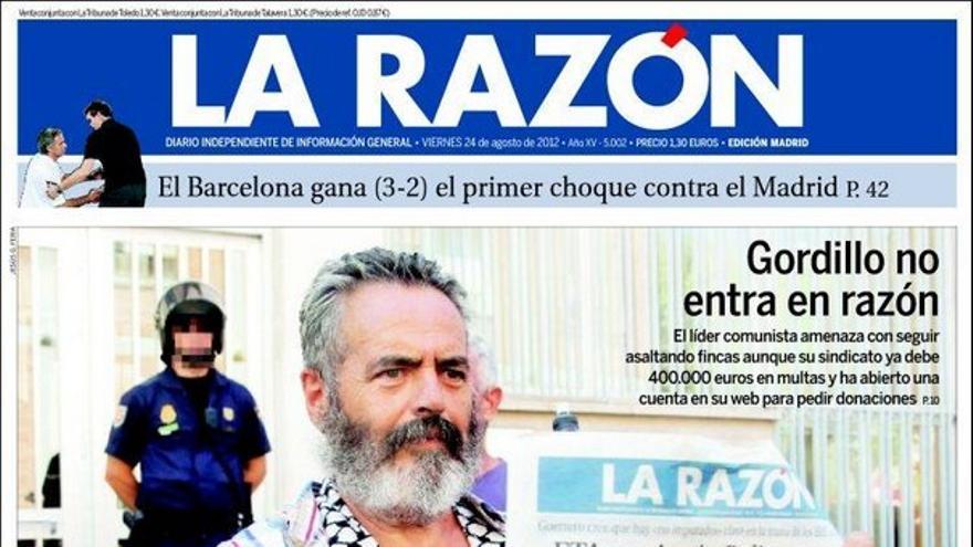 De las portadas del día (24/08/2012) #9