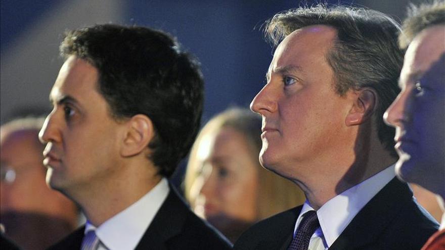 Cameron convence a más espectadores que Miliband en una entrevista conjunta