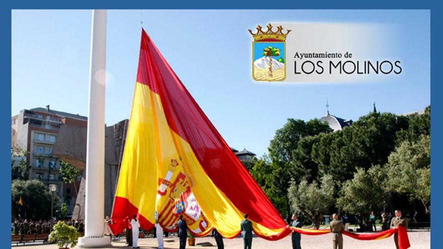 """Cartel de convocatoria del acto """"homenaje a los caídos"""" en Los Molinos. / www.ayuntamiento-losmolinos.es"""