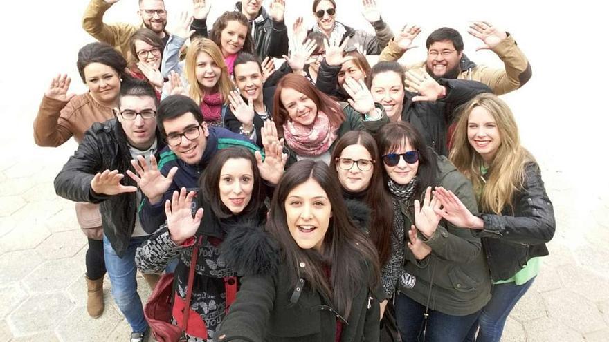 Uno de los grupos Lanzadera Empleo Extremadura jóvenes