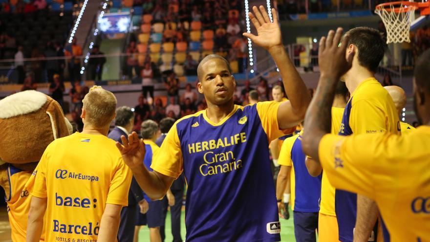 Imagen del encuentro entre el Herbalife Gran Canaria y el Valencia Basket