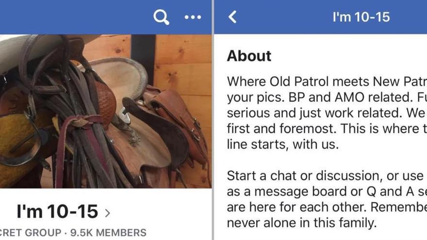 """Captura de pantalla con el título del grupo de Facebook y su descripción: """"Acerca de Donde la Patrulla Vieja se reúne con la Patrulla Nueva. Suban sus fotos y contenido relacionado con AMO. Cosas chistosas, serias y relacionadas con el trabajo. Antes que todo, somos familia. Aquí comienza la Línea Verde, con nosotros. Comienza una charla o discusión, o usa la página como tablero de mensajes o sesión de preguntas y respuestas. Estamos aquí para respaldarnos entre todos. Recuerda que en esta familia nunca estás solo."""""""