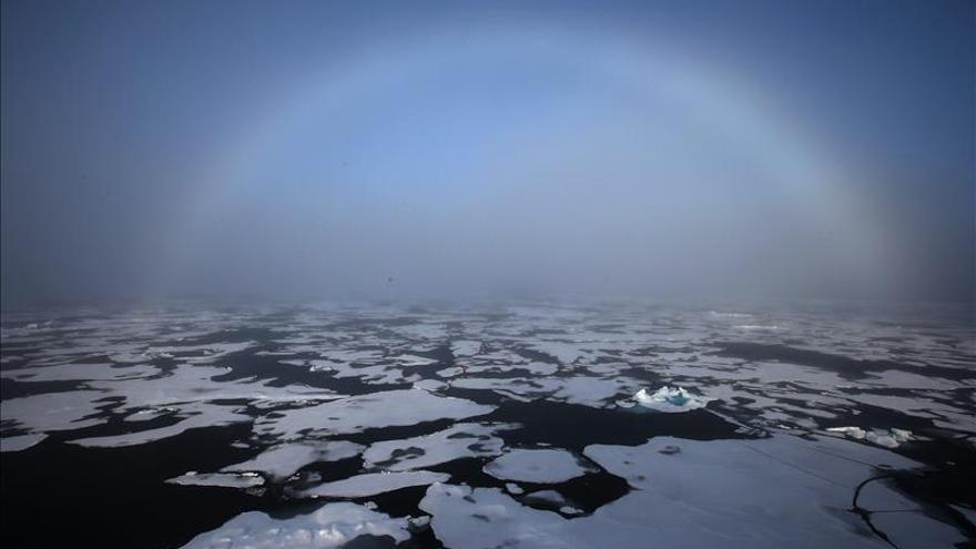 Potente tormenta eleva la temperatura del Polo Norte por encima del punto de congelación