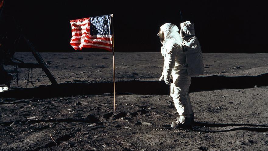 La llegada del hombre a la Luna es materia prima habitual de las teorías de la conspiración. Foto: NASA