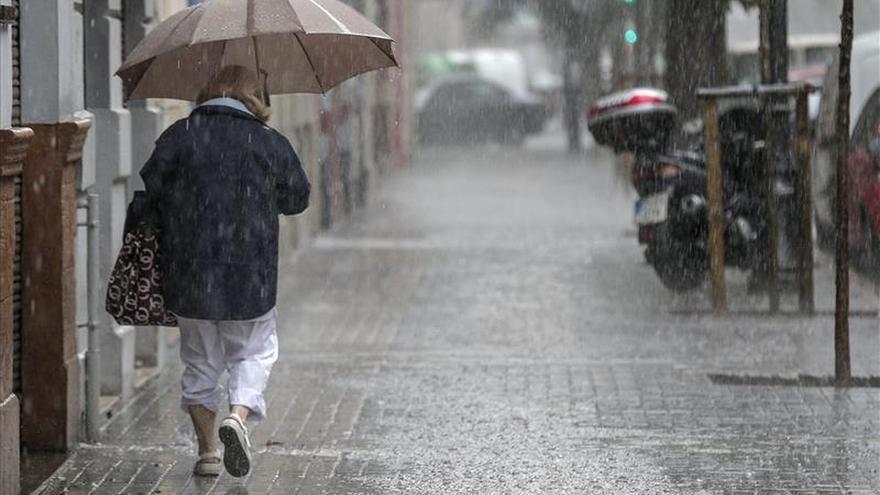 La lluvia deja 35,8 litros por metro cuadrado en la ciudad de Valencia