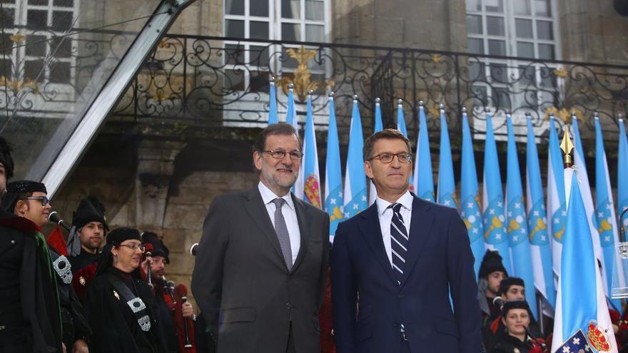 Rajoy y Feijóo en la toma de posesión del segundo en Santiago
