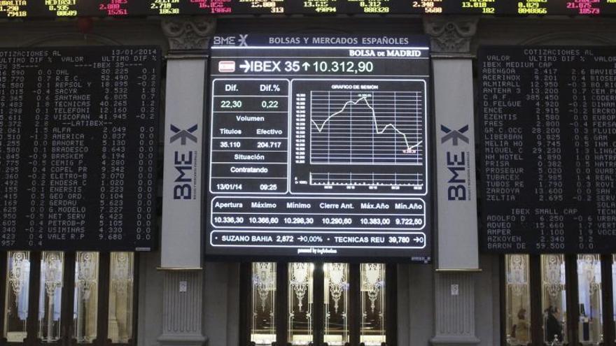 El IBEX opta por las ventas a mediodía y cede el 0,04 por ciento