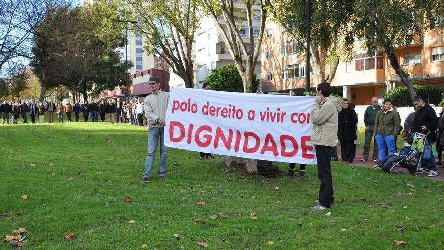 Movilización en Vigo en defensa de los derechos de las personas en riesgo de exclusión