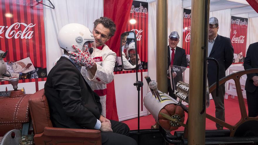 El presidente del Cabildo de Gran Canaria, Antonio Morales, y el consejero de Desarrollo Económico, Raúl García Brink en Planeta Gran Canaria en Infecar.
