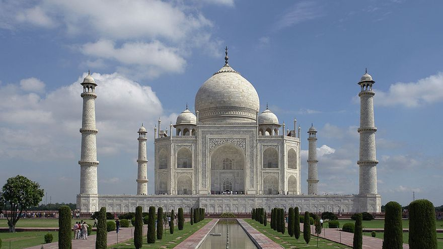 Taj Mahal en Agra, India. Copy: By Yann, via Wikimedia Commons