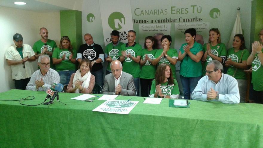 Acuerdo de Antonio Morales con la Coordinadora de PAH Canarias