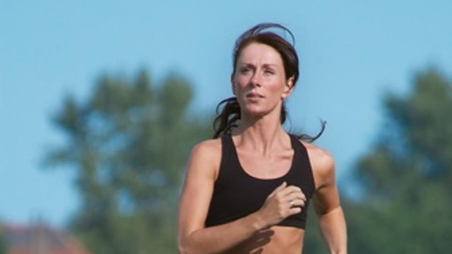 Mujer deportista, deporte, footing