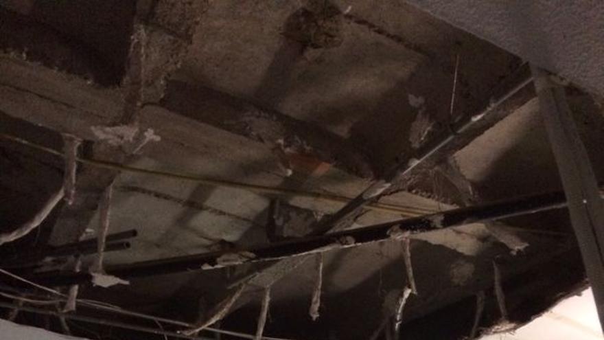 Techo derrumbado en el Hospital de Puertollano