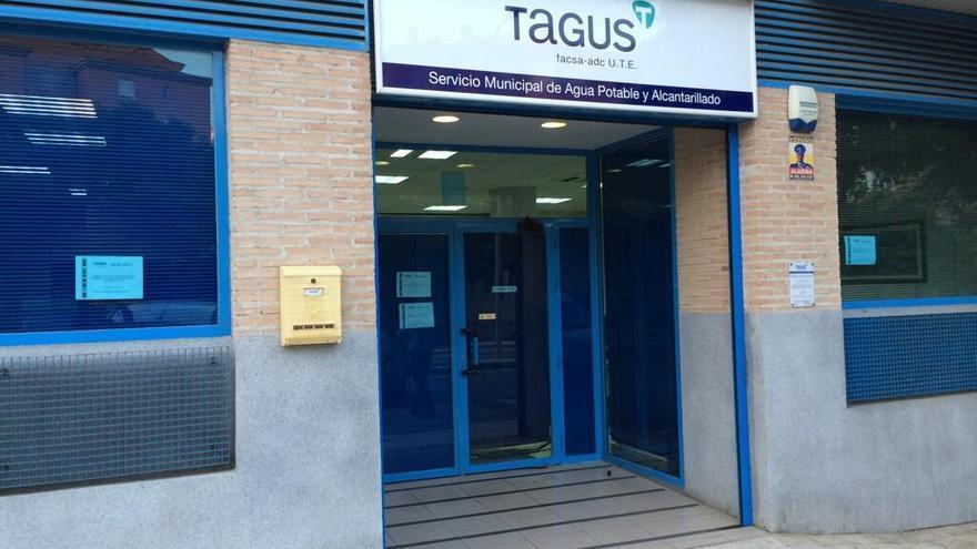 Oficina municipal de aguas Tagus. Foto por Javier Sotomayor | Twitter @soto_jsr.