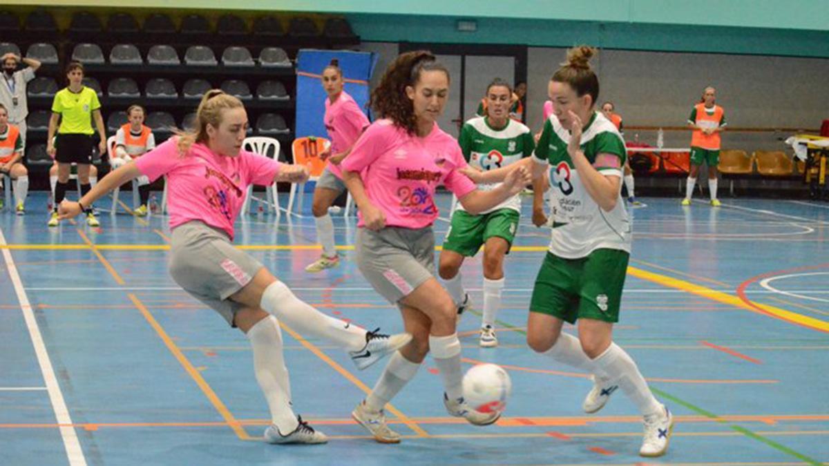 Inma Sojo durante un partido de la Copa