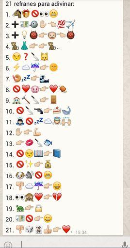 21 refranes para adivinar hechos con emoticonos