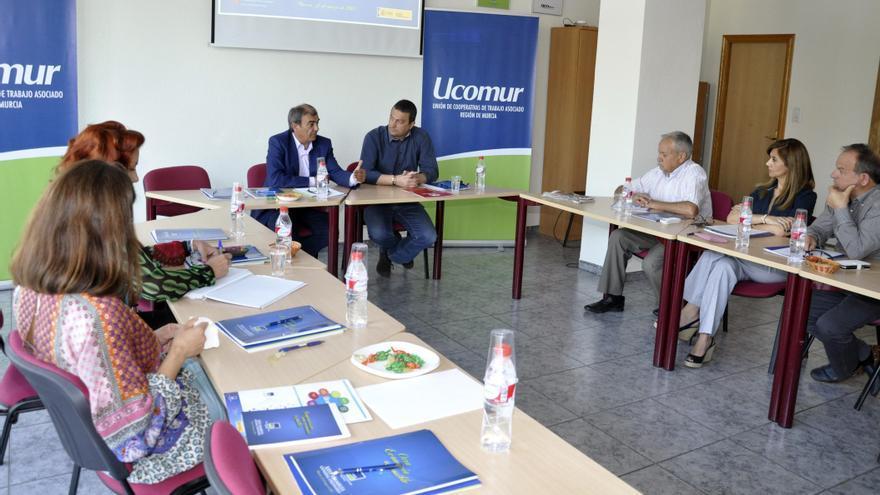 Pujante se reunió con el presidente de UCOMUR, Antonio Pedreño