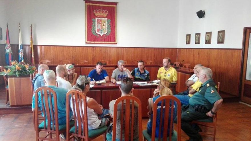 Reunión del operativo de seguridad para la fiesta de La Morena